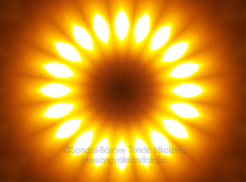 A Nap ereje ~ mandala | Angyalmandala