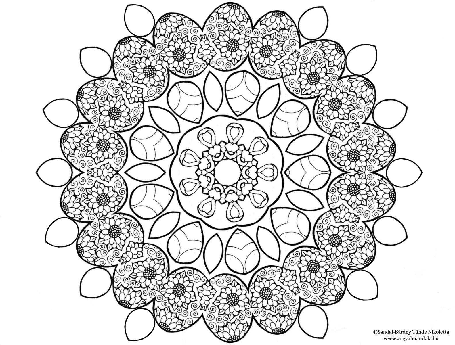 Photo of Húsvéti színezhető mandala