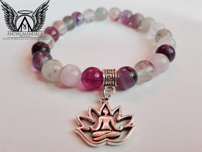 Photo of A tudás fénye mandala karkötő (lila fluorit)