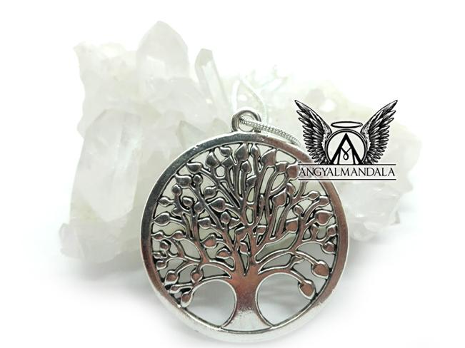 Élet fája medál (ezüst lánccal) - jólét, harmónia