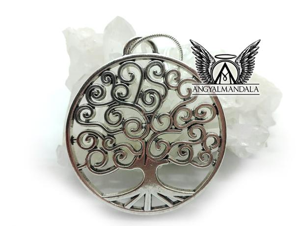 Életfa medál (ezüst lánccal) - jólét, harmónia