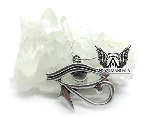 Hórusz szeme medál (ezüst lánccal) - sebezhetetlenség, egészség