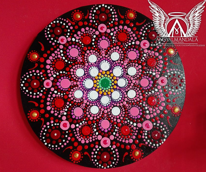 Photo of A Rózsa szirma ~ mandala festmény (30 cm)