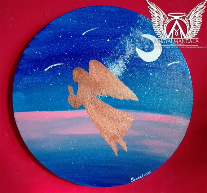 Photo of A hála angyala ~ spirituális festmény (30 cm)