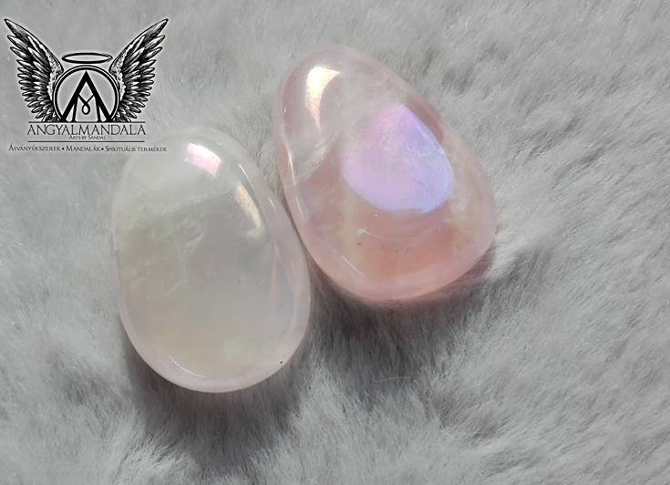 Aura Rózsakvarc ásvány medál