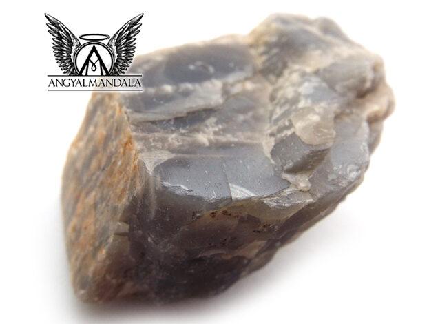 Nyers fekete holdkő ásvány (EXTRA RITKA!) - India